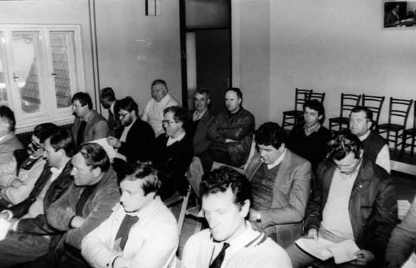 Črno bela fotografija iz zbornice